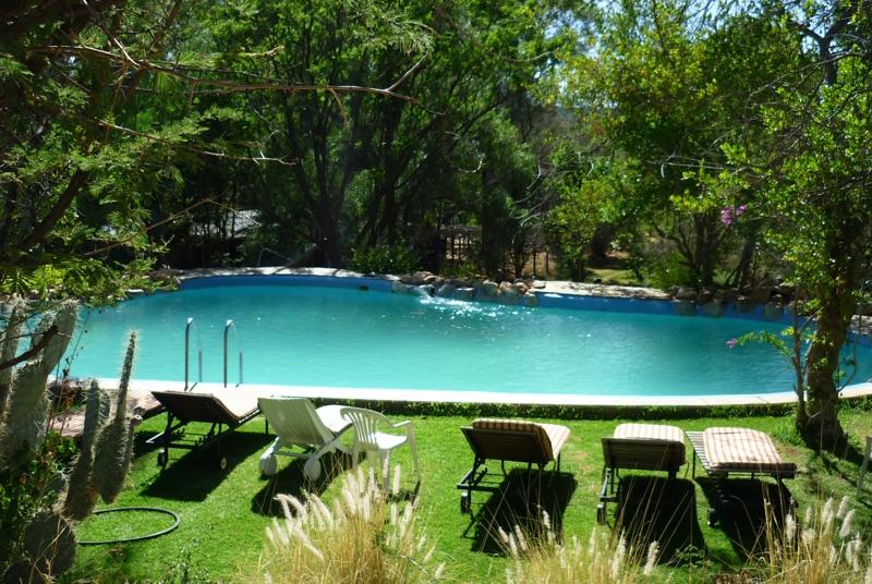 Okambara elephant lodge namibia kalahari calling ug for Knebel design pool ug